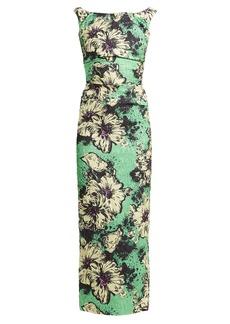 Miu Miu Floral-print silk-blend cloqué dress