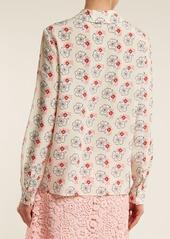 Miu Miu Floral-print silk crepe de Chine blouse
