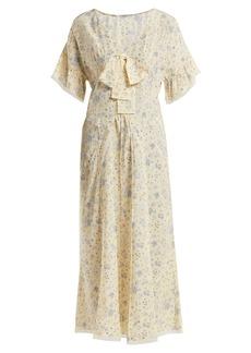 Miu Miu Floral-print silk crepe de Chine dress