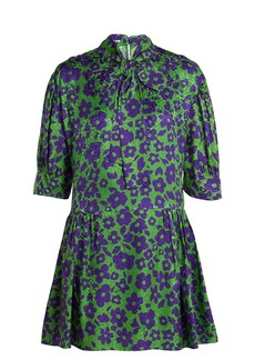 Miu Miu Floral-print silk dress