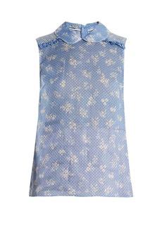 Miu Miu Floral-print sleeveless top