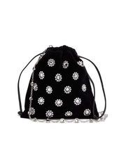 Miu Miu Flower crystal-embellished velvet drawstring bag