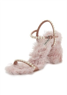 Furry Pearlescent Sandal