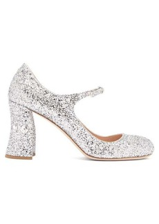 Miu Miu Glitter crystal-embellished pumps