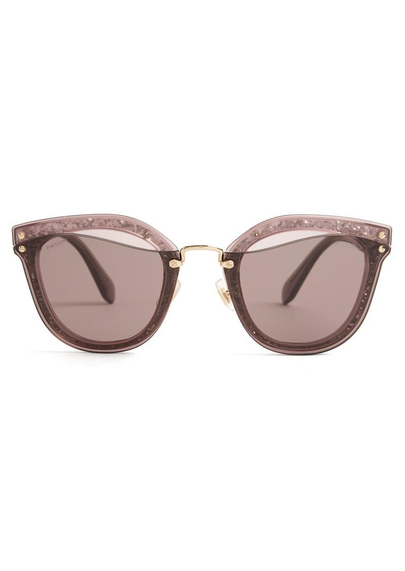 d7cc8dc73454 Miu Miu Miu Miu Glitter-embellished cat-eye sunglasses