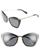 Miu Miu Noir 55mm Cat Eye Sunglasses