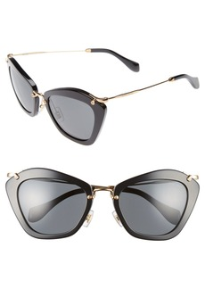 Miu Miu Noir 55mm Cat Eye Sunglasses
