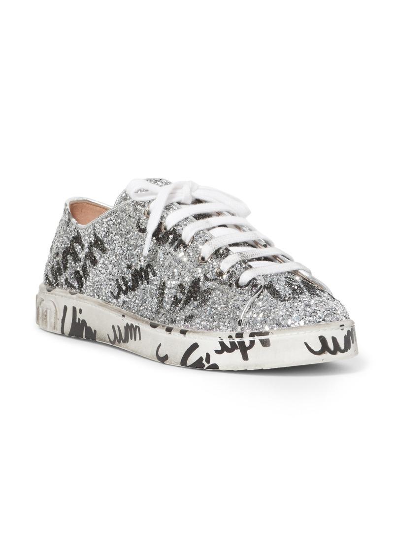 4a16287105 Miu Miu Miu Miu Glitter Logo Sneaker (Women)