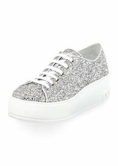 Miu Miu Glitter Platform 55mm Sneakers