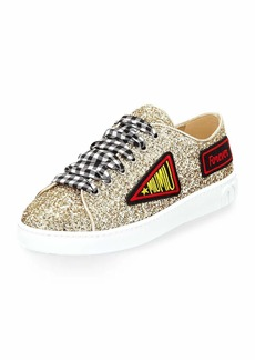 Glitter Sneaker with Patches