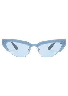 Miu Miu Glitter-trim acetate cat-eye sunglasses