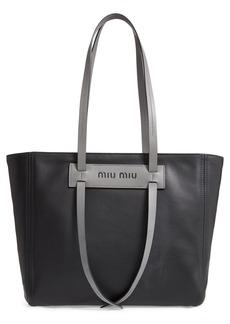 Miu Miu Grace Lux Calfskin Leather Tote