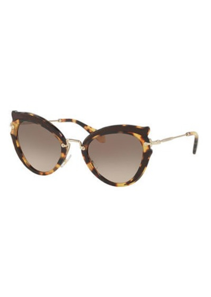 5d1378c828c4 Miu Miu Gradient Cat-Eye Sunglasses | Sunglasses