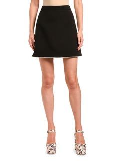 Miu Miu Grain de Poudre Crystal-Hem Mini Skirt