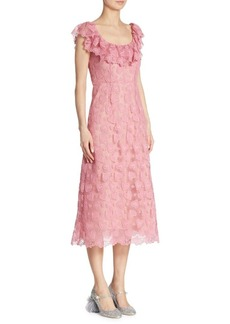 Miu Miu Heart-Macramé Lace Dress
