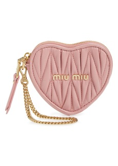 Miu Miu Heart Matelassé Leather Bag Charm