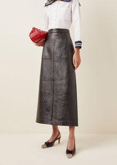 Miu Miu High-Rise Leather Pencil Skirt