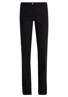 Miu Miu High-rise wide-leg wool-blend trousers