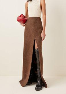 Miu Miu High-Rise Wool Maxi Skirt