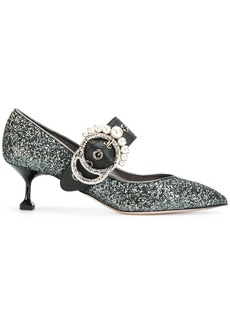 Miu Miu high shine pumps - Grey
