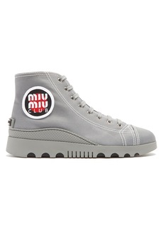 Miu Miu High-top canvas trainers
