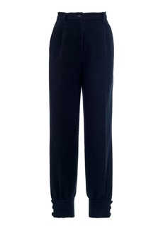 Miu Miu High-Waisted Cinched Ankle Pants