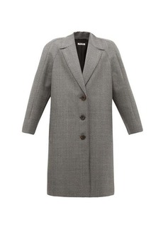Miu Miu Houndstooth virgin wool single-breasted coat