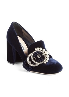 Miu Miu Imitation Pearl Buckle Pump