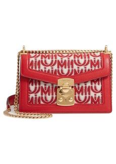 Miu Miu Jacquard Logo Shoulder Bag