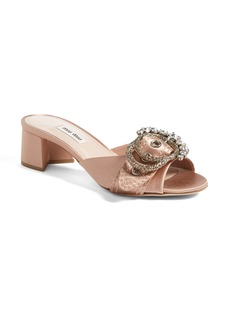 Miu Miu Jewel Buckle Sandal (Women)