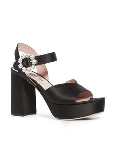 Miu Miu Jewel Platform Sandal (Women)