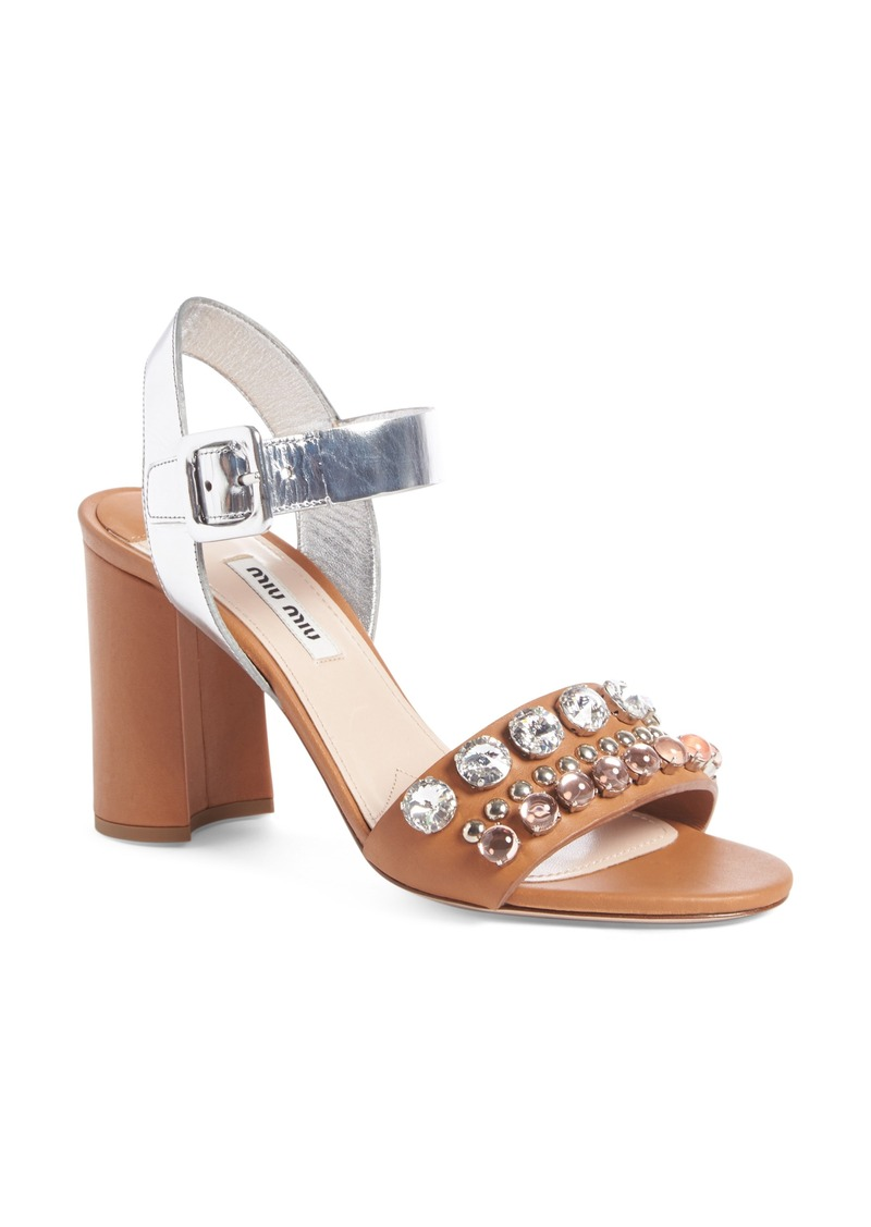 MIU MIU Sandals Brown Women