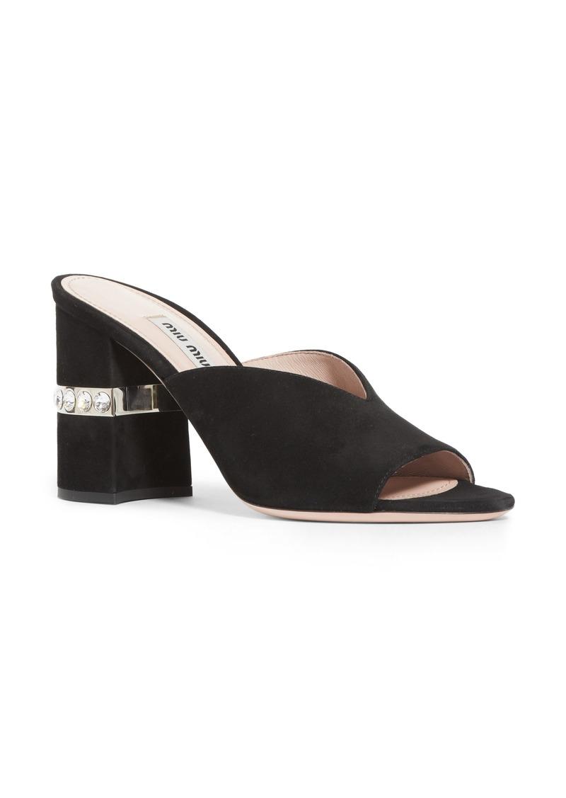 606f1ac0b4416 Miu Miu Miu Miu Jewel Slide Sandal