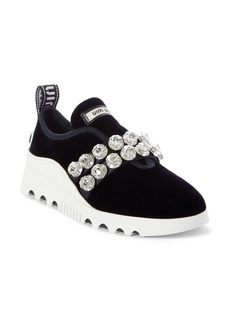 Miu Miu Jewel Strap Slip-On Sneaker (Women)