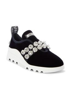 Miu Miu Jewel Strap Slip-On Sneaker (Women)