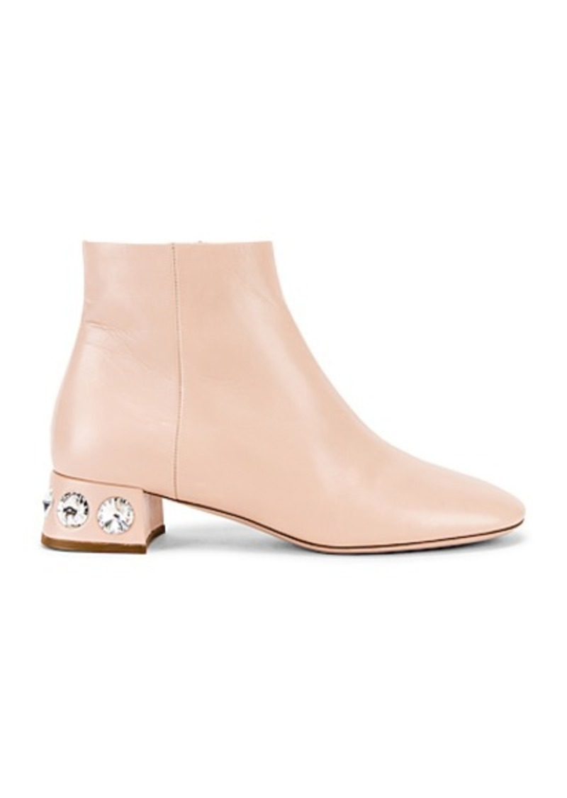 Miu Miu Jeweled Ankle Boots