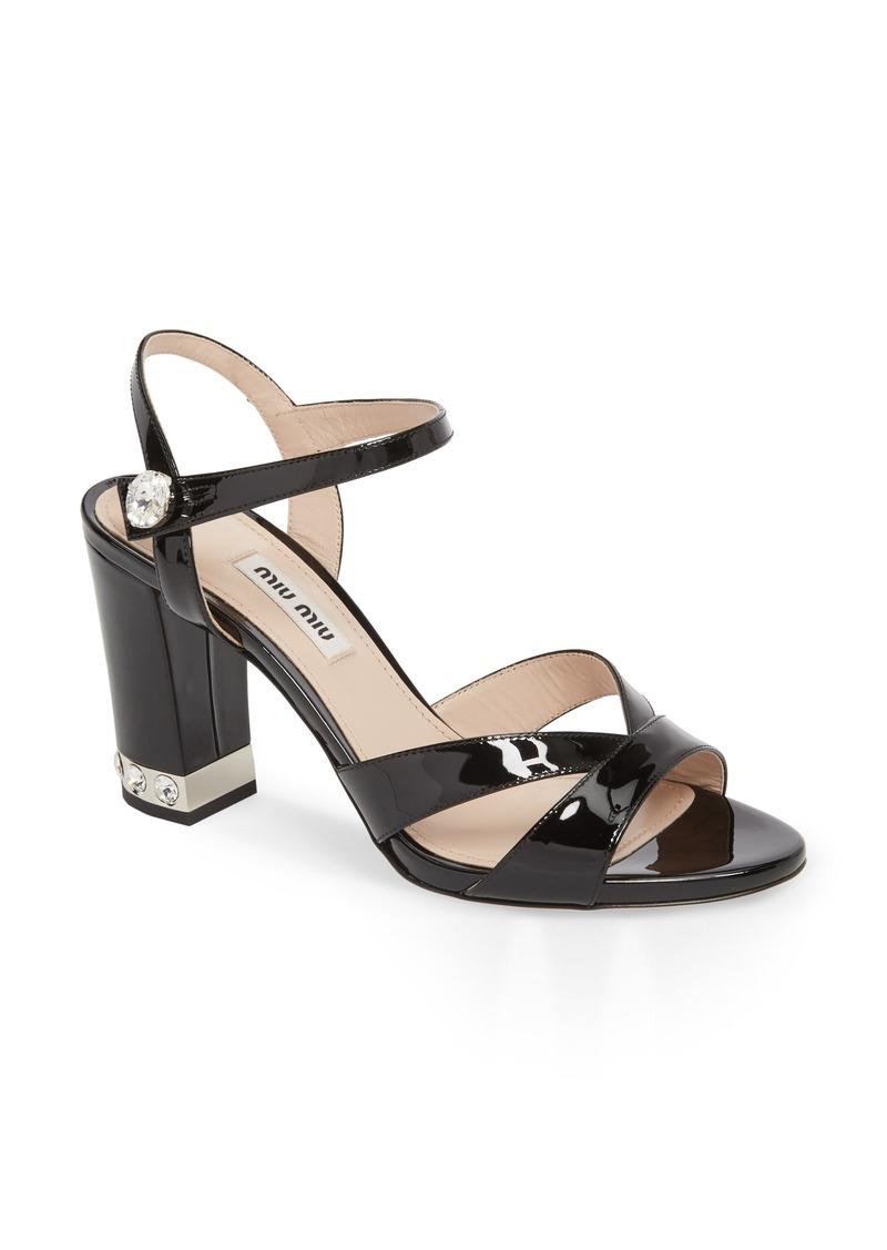 7bbb093a9b9c Miu Miu Miu Miu Jeweled Heel Sandal (Women)