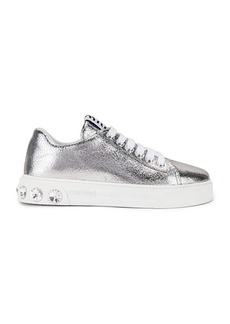 Miu Miu Jeweled Sneakers