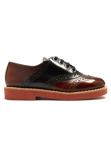 Miu Miu Lace-up leather brogues