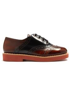 Miu Miu Lace-up leather brogues