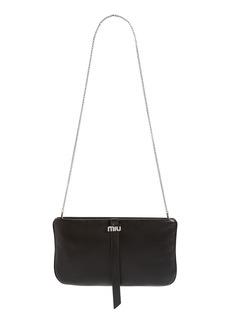 Miu Miu Lambskin Leather Clutch on a Chain