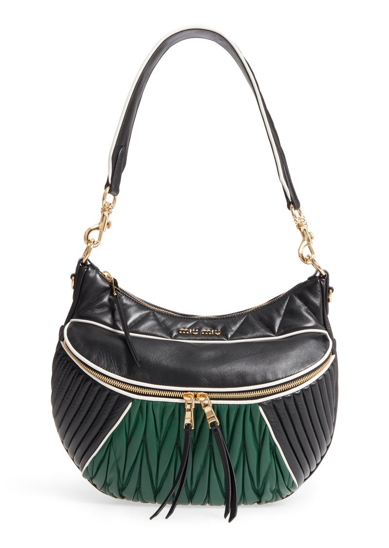 ec3db5c98a99 Miu Miu Miu Miu Large Rider Matelassé Leather Shoulder Bag | Handbags