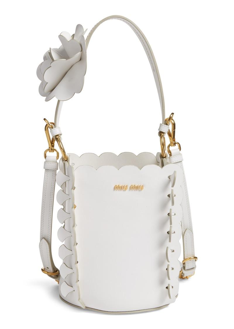 25d0c318de2c On Sale today! Miu Miu Miu Miu Leather Bucket Bag