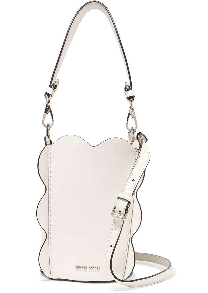 08348ab9659f Miu Miu Leather bucket bag