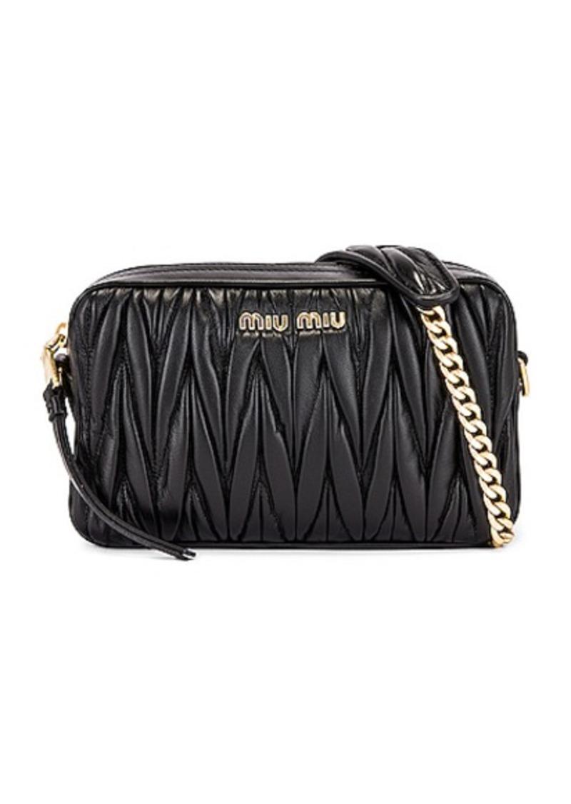 Miu Miu Leather Camera Bag