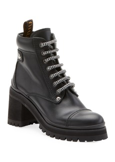 Miu Miu Leather Platform Hiker Boot