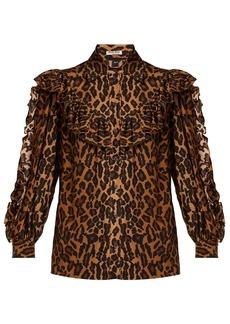 Miu Miu Leopard-print silk blouse