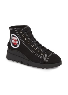 Miu Miu Logo High Top Sneaker (Women)