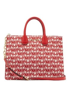 Miu Miu Logo-jacquard leather-handle tote bag