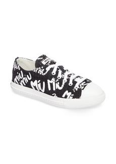 Miu Miu Logo Low Top Sneaker (Women)